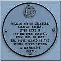 TR0161 : Plaque on Bridge House, Faversham by David Anstiss