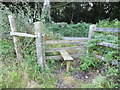 TQ4661 : Stile from path by Charmwood Lane by David Howard