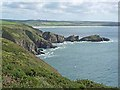 SM8123 : Pembrokeshire coast east of Dinas Fawr by Oliver Dixon