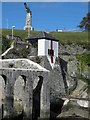 SX4554 : Harbour marker at the end of Mount Wise by Steve  Fareham