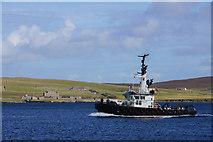 HU4841 : Lerwick pilot boat Knab in Bressay Sound by Mike Pennington