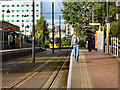 SJ8196 : Exchange Quay Metrolink Station by David Dixon