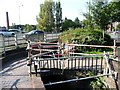 SO8276 : Footbridge at the tail of Kidderminster Lock by Christine Johnstone