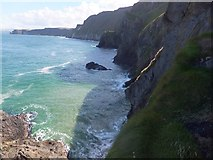 D0644 : Cliffs to the east of Carrick-a-Rede by David Smith
