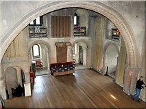 TL7835 : View from The Minstrels' Gallery, Hedingham Castle by PAUL FARMER