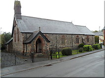 SN8746 : Victoria Road side of St James Church, Llanwrtyd Wells by Jaggery