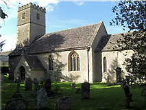 SP0809 : Church of St Andrew, Coln St Dennis by Stuart Logan
