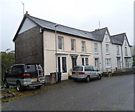 SN8746 : A row of three houses, Station Road, Llanwrtyd Wells by Jaggery