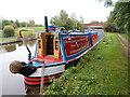 SJ8934 : Working Narrow Boat Hadar moored at Bridge No.96A, Stone by Keith Lodge