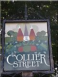 TQ7146 : Collier Street Village sign (close-up) by David Anstiss