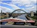 NZ2563 : The Tyne and Swing Bridges by Robert Graham