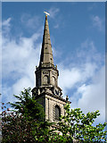 SO9198 : The spire of St John's in the Square, Wolverhampton by Roger  Kidd