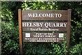 SJ4974 : Helsby Quarry Sign by Jeff Buck