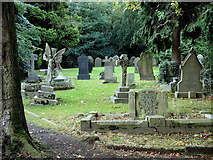 SK3875 : Churchyard, Old Whittington by Andrew Hill