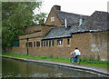 SP1391 : Towpath and inn buildings at Tyburn, Birmingham by Roger  Kidd