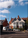 SP7761 : Floodlight tower at the County Ground by Michael Trolove