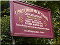 SK0581 : Nameboard, Chinley Independent Chapel by David Dixon