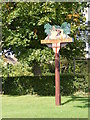 TM3481 : Rumburgh Village sign by Geographer