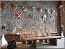 ST1587 : Inside the Great Hall at Caerphilly Castle by Jeremy Bolwell