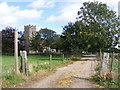 TM3483 : Footpath & entrance to St.Michael South Elmham Church by Adrian Cable