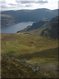 NY4614 : Whelter Bottom from the top of Bason Crag by Karl and Ali