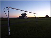 NT6779 : Coastal East Lothian ; An Open Goal at Winterfield Park, Dunbar by Richard West