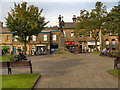 SK0394 : Norfolk Square and War Memorial, Glossop by David Dixon