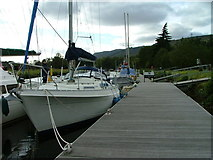 NH6140 : Boats moored at Dochgarroch by Dave Fergusson
