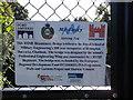 TQ7668 : Plaque beside the RSME Bicentenary bridge Gate by David Anstiss