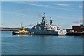SU6201 : HMS Mersey on Middle Slip Jetty  by Ian Capper