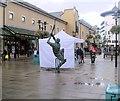TQ8109 : Cricketer Sculpture, Hastings by Paul Gillett