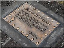 J3574 : Ennis Watson plaque, Belfast by Albert Bridge
