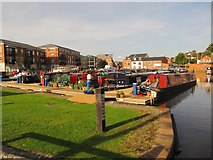 SO8453 : Narrowboats moored in Diglis Basin by Christine Johnstone