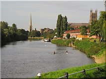SO8453 : Sculling on the Severn by Christine Johnstone
