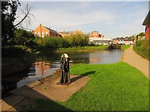 SO8453 : The pond between Locks 1 and 2 by Christine Johnstone