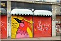 J3374 : Shutter graffiti, Belfast by Albert Bridge