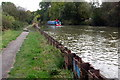 SP8927 : Low lying towpath by Philip Jeffrey