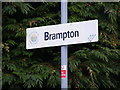 TM4183 : Brampton Railway Station sign by Adrian Cable
