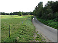 TM1797 : View along Marsh Lane by White Horse Cottage by Evelyn Simak