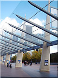 TQ3979 : Canopy at North Greenwich station by Oast House Archive