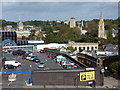 SZ0891 : Bournemouth: a car park, the Town Hall and two churches by Chris Downer