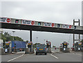 TA0225 : Toll booths, Humber Bridge by Pauline E
