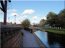 SJ2207 : Welshpool Town locks by Morrisons car park by John Firth
