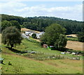 ST4794 : Usk Road viewed from the western edge of Mynydd-bach  by Jaggery