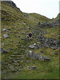 SD8964 : Stone steps on the Pennine Way, Watlowes by Karl and Ali