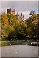 TL1406 : St Albans Abbey across Verulamium Lake  by Ian Capper