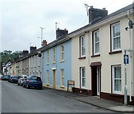 SN7634 : Houses on the west side of Orchard Street, Llandovery by Jaggery
