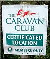 SO3305 : Caravan Club sign near Goytre by Jaggery