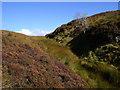 NR8156 : Burn on south-west flank of Cruach nam Fiadh in Kintyre by ian shiell