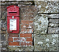 NY5221 : Georgian post box and bench mark, Whale by Karl and Ali